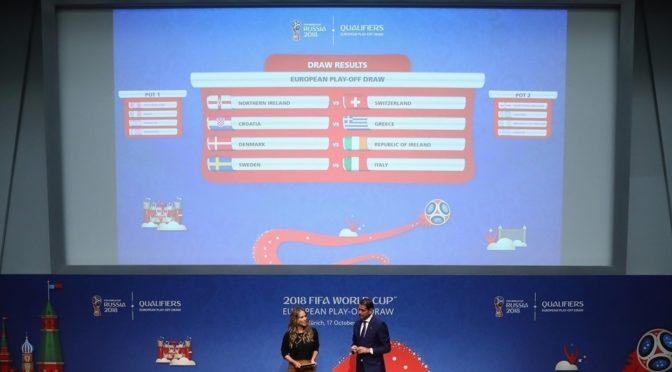 Состоялась жеребьевка стыковых матчей ЧМ 2018 в России