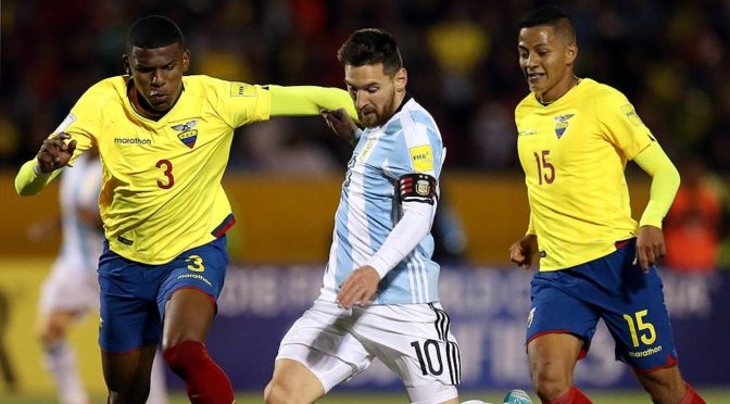 Момент: Лионель Месси выводит сборную Аргентины в финальную часть ЧМ2018 в России