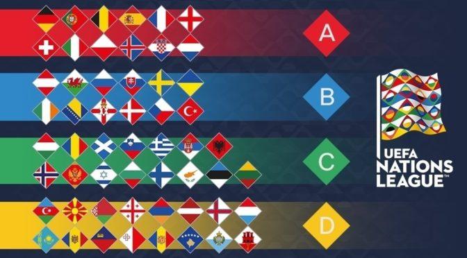 Определён состав лиг первого розыгрыша Лиги наций УЕФА
