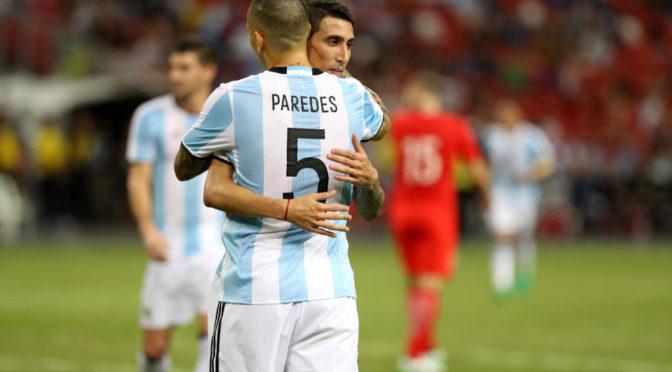 Сборная Аргентины играет вничью с Колумбией